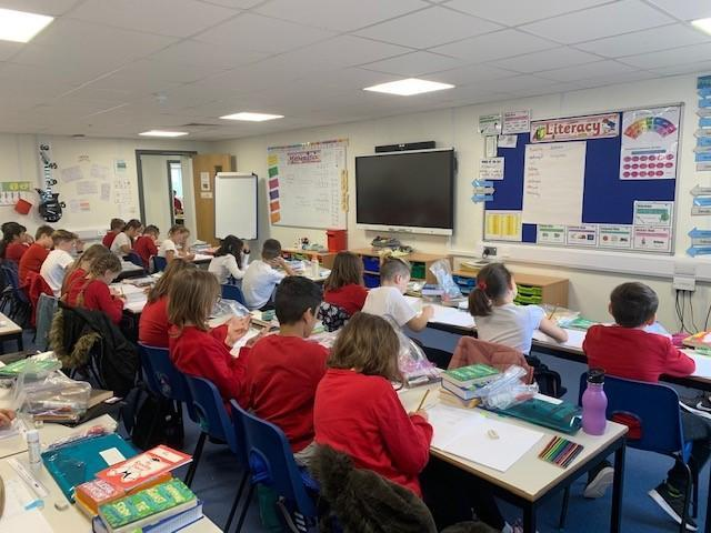 Hard at work - Year 6 studying maths