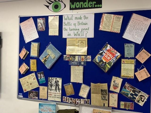 Creative curriculum display - Year 5