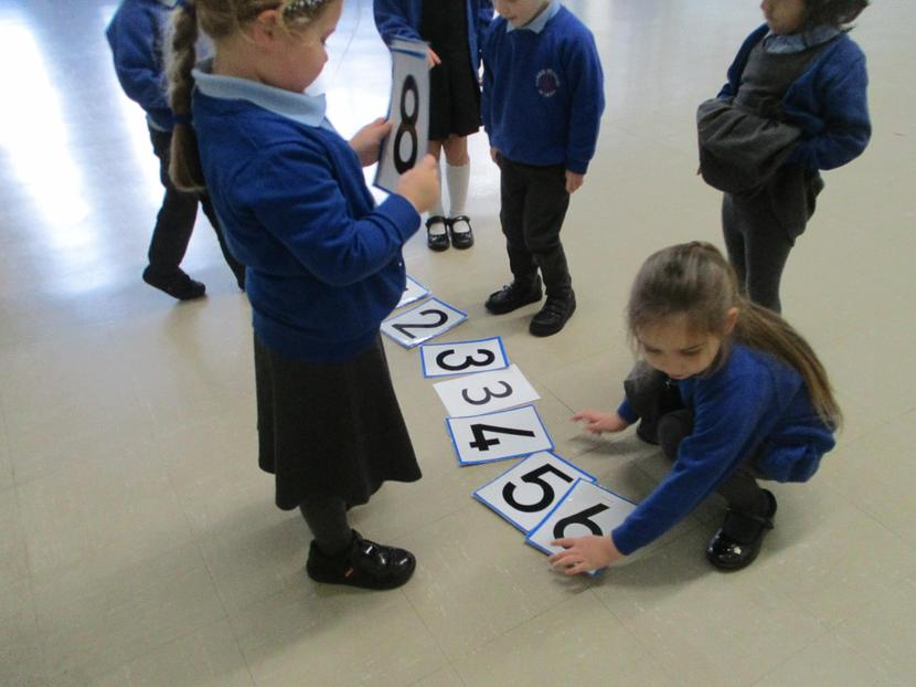 We made a number line.