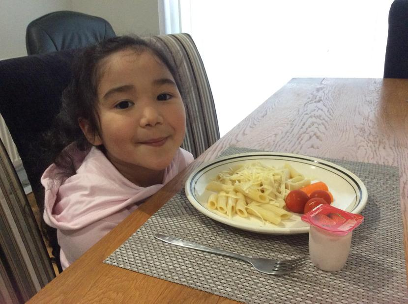 Asiya designed, made and ate her healthy plate of food.