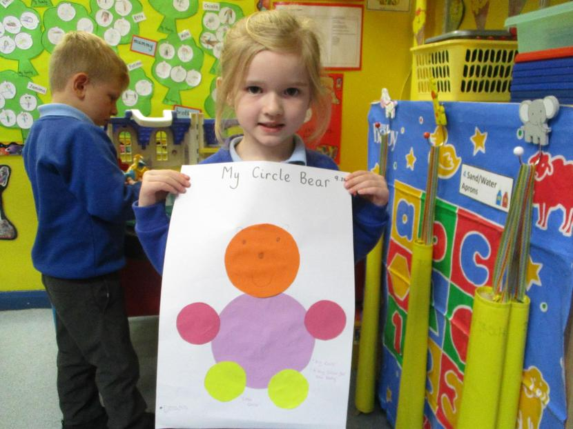 We talked about the different sizes and described the circles we had used.