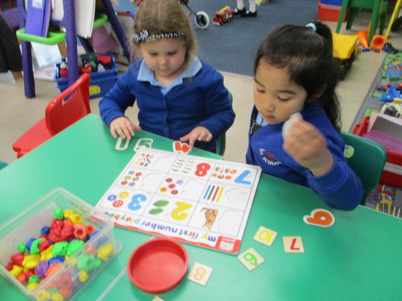 Counting and recognizing numbers.