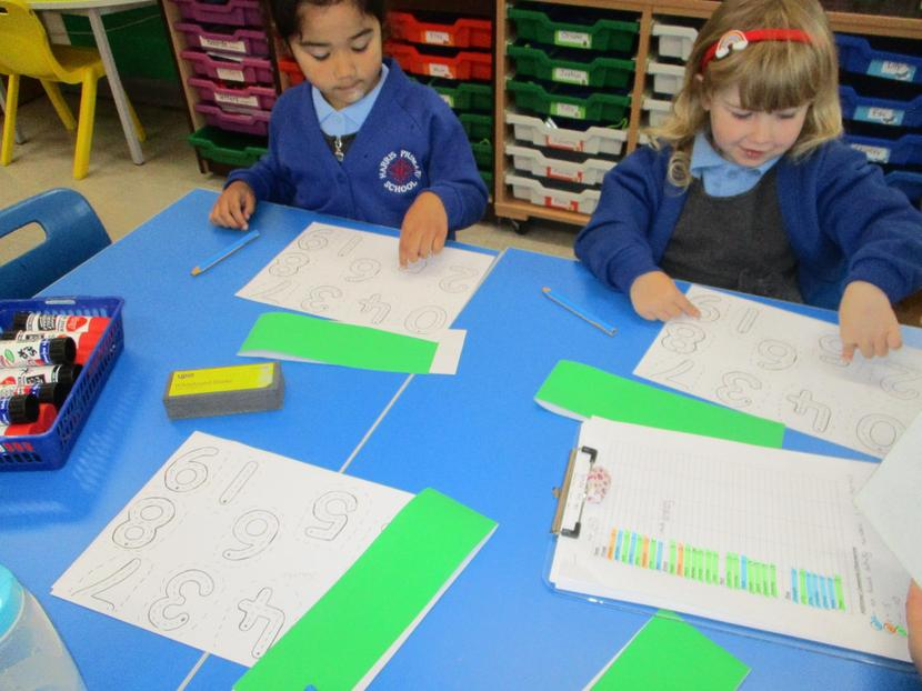 Writing and ordering numbers.