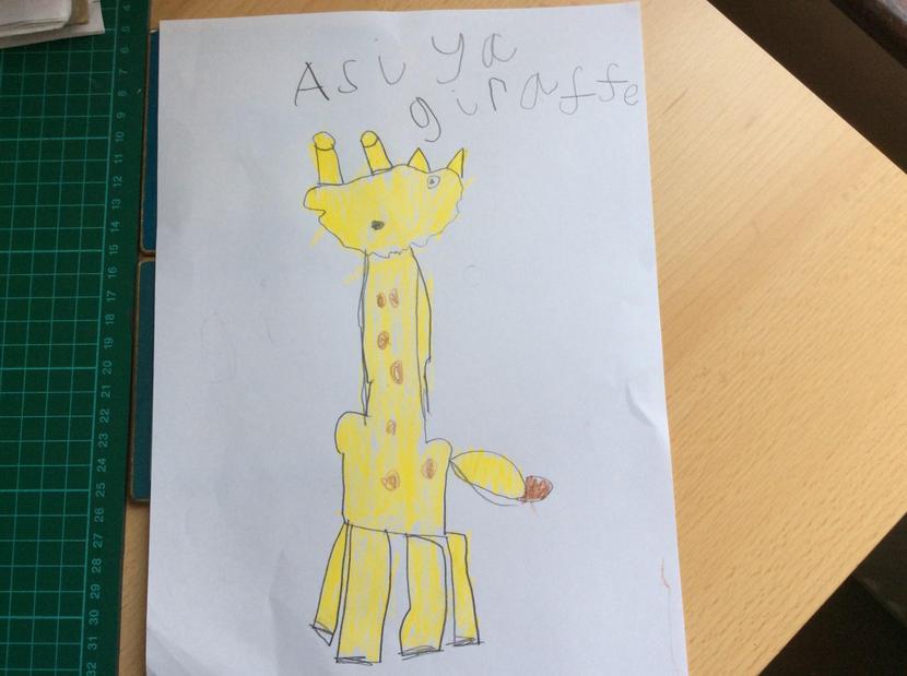 Asiya's wonderful giraffe.