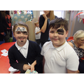 Even the older children enjoyed the face-paint