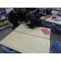Creating angles using masking tape!