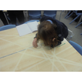Measuring the angles with a protractor!