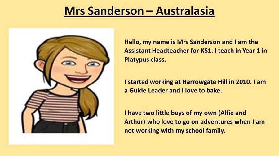 Mrs Sanderson