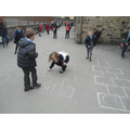 A classic game of hop scotch!