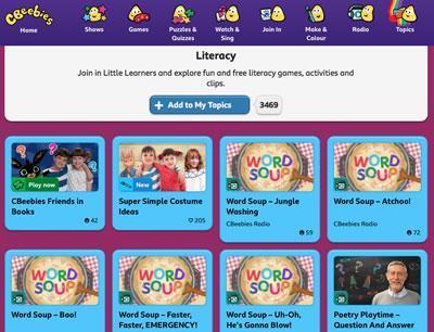 CBeebies Literacy