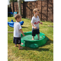 Splashing fun in the paddling pool
