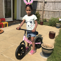 Loving the bunny ears and the new bike