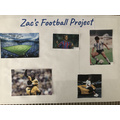 Zac has been busy with a football project