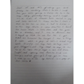 Georgia's letter from Hamish