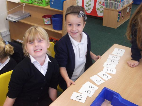 Counting and ordering numbers in Maths