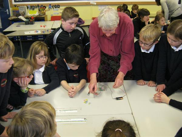 Our Science visit from Professor Gehring.