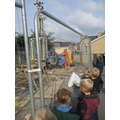 A big drill in the playground