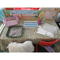 Letter formation in the Fairy Garden