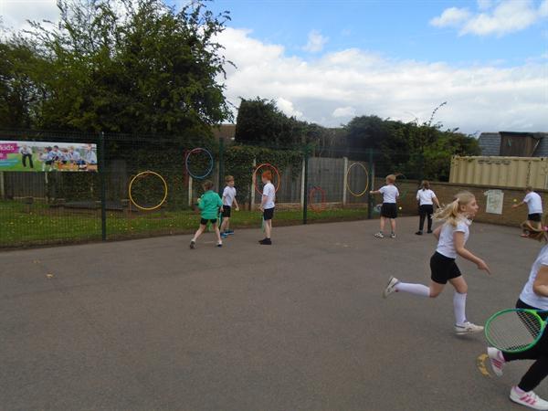 Target practise in tennis