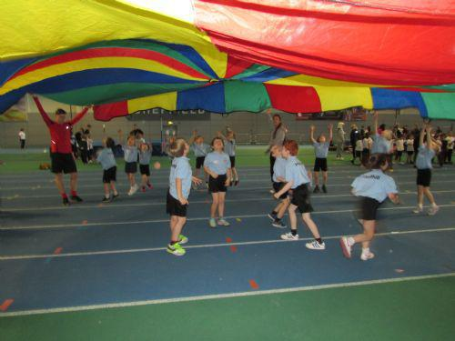 We loved playing parachute games.