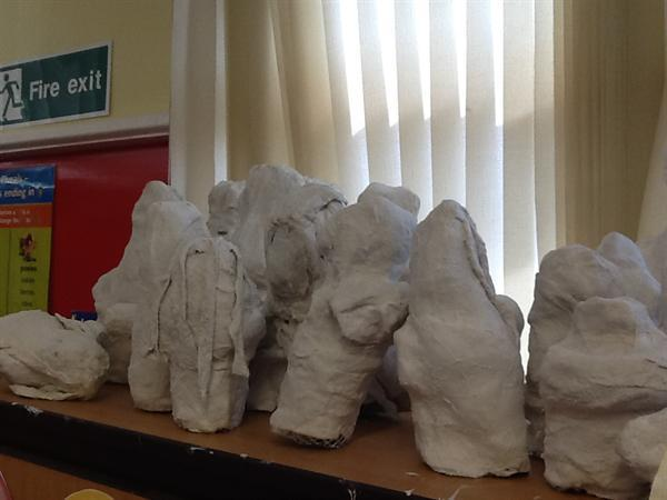 Making our statues and painting our setting