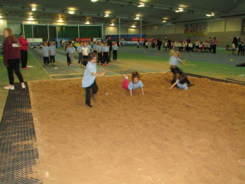 Long jump in the sand pit was lots of fun.