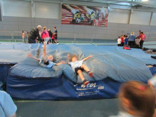 High jump onto the mats was our favourite.