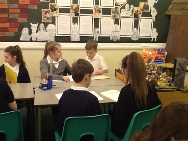 Sharing our writing with Y6