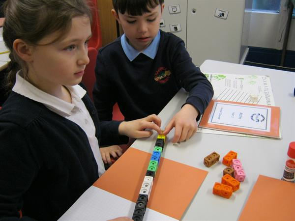 Using cubes to find fractions