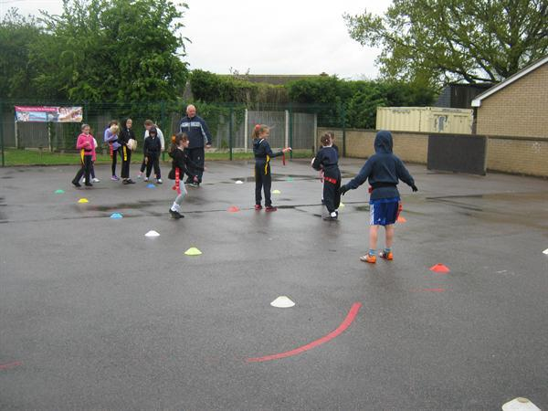 Tag rugby with Dinnington Rugby coaches