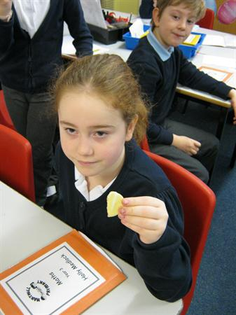 Fractions with biscuits.