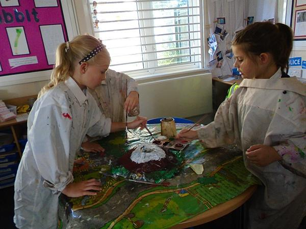 Painting our volcanoes