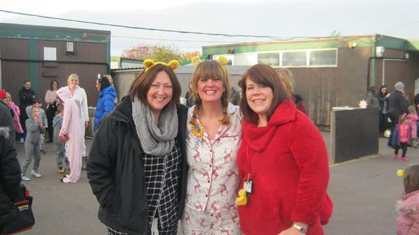 Mrs Francis with Mrs Rayner and Mrs Sissons