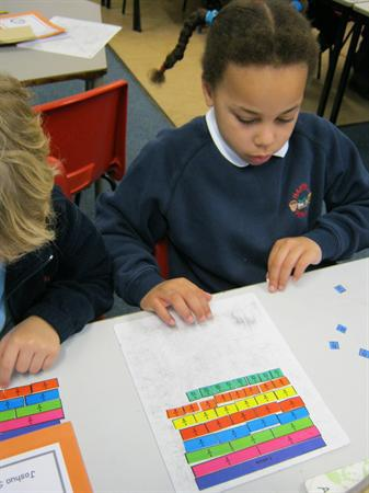 Finding equivalent fractions on a fraction wall