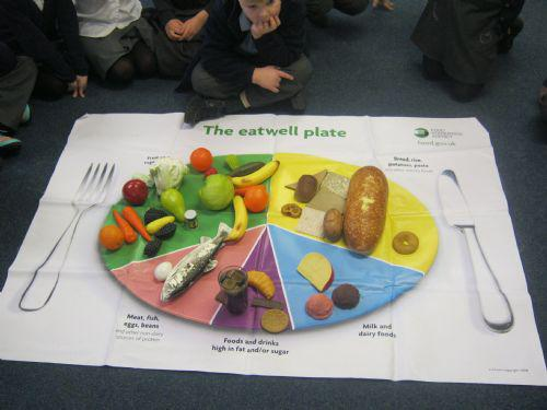 Our huge Eatwell plate!