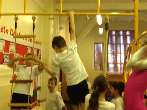 Apparatus lesson in Gymnastics