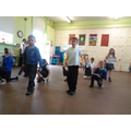African dancing and African masks made by children