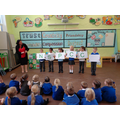 Teaching the children what NSPCC stands for