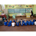 Mrs Sharp talks to Beech and Willow classes
