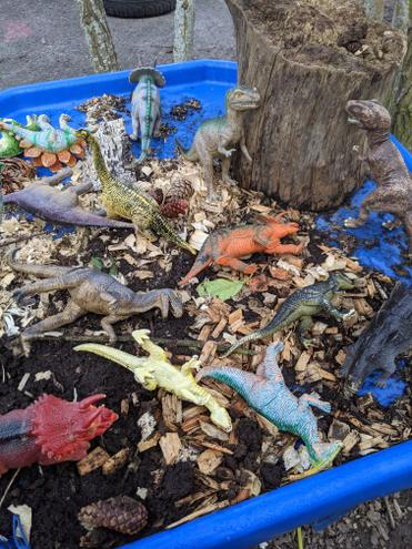 Outdoor small world play