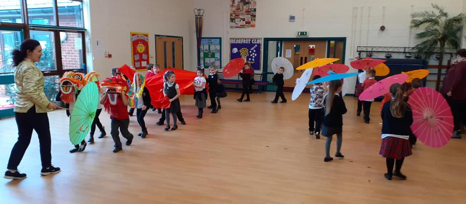 Year 1 Dancing Procession!