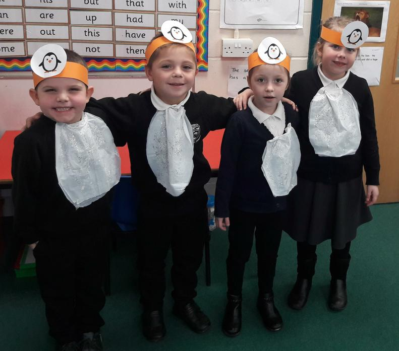 "Our performing penguins! ""Baby Penguin, doodoo..!"""