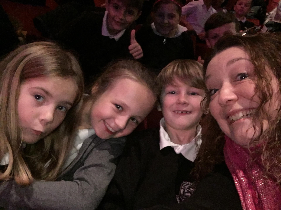 Mrs Anderson and her little helpers!
