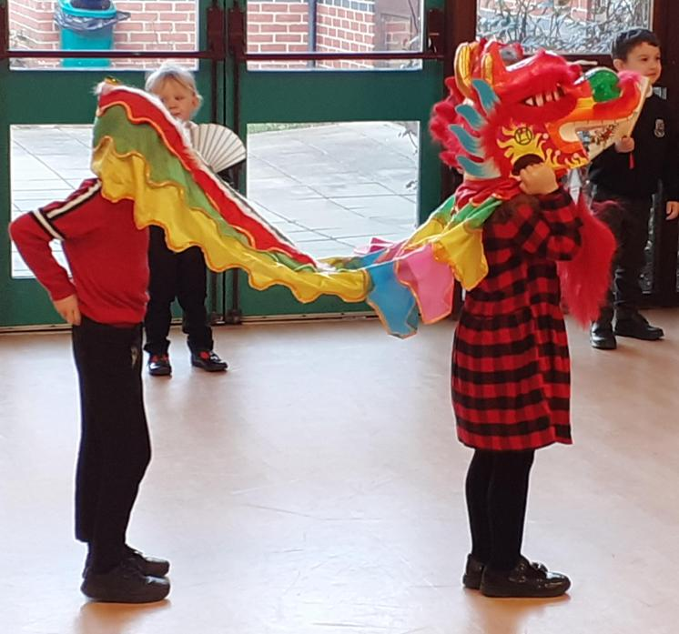 Reception Dragon Head And Tail!