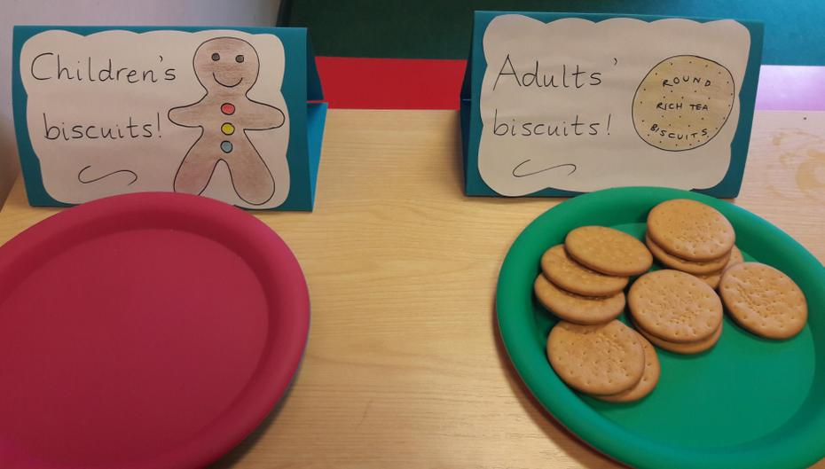 Only the adults' biscuits left!