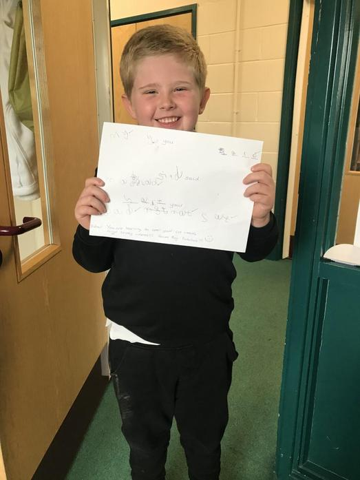 Jayden is being really successful with his spelling words and some tricky ones too!
