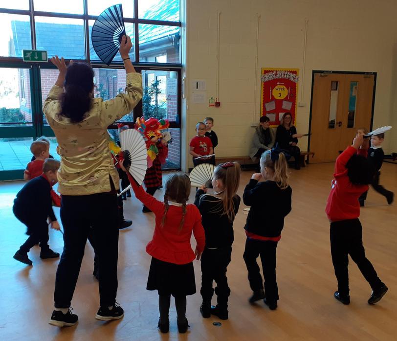Reception Children Fan Dancing!