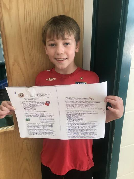Riley has amazed us all with his super writing. Well done!