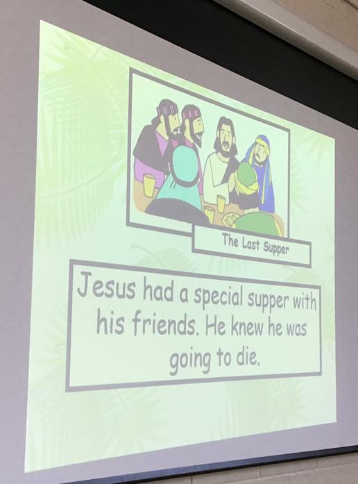 We learnt about the Last Supper...