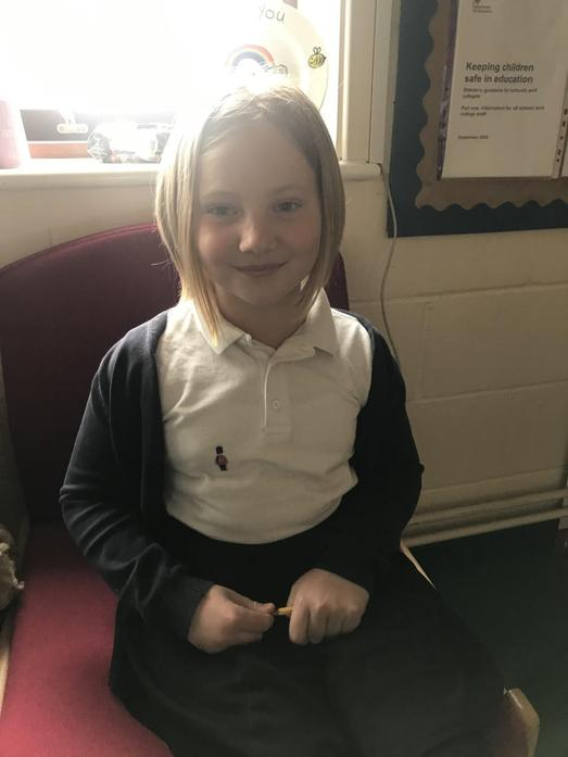 Ava donated all her lockdown hair to The Little Princess Trust.